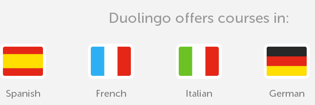 DuoLing flags of different languages
