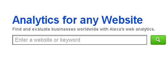 Alexa analytics for any website