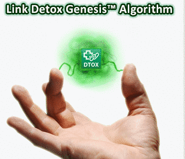 Link detox with a hand and above it figure