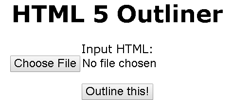HTML5 outliner choose file button