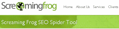 SEO spider named as Screaming Frog