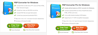 iSkysoft PDF converter software for windows and mac