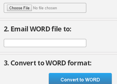 enter email and the word file