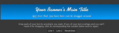 the interface of banner fans