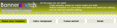 the homepage of banner sketch