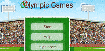 Olympic typing game mode