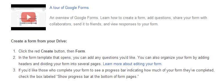 creating forms with google instructions