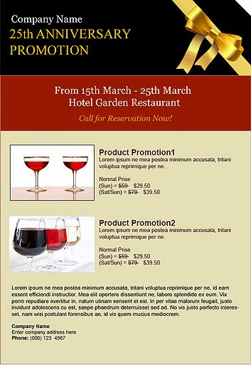 Company promotion maroon and black
