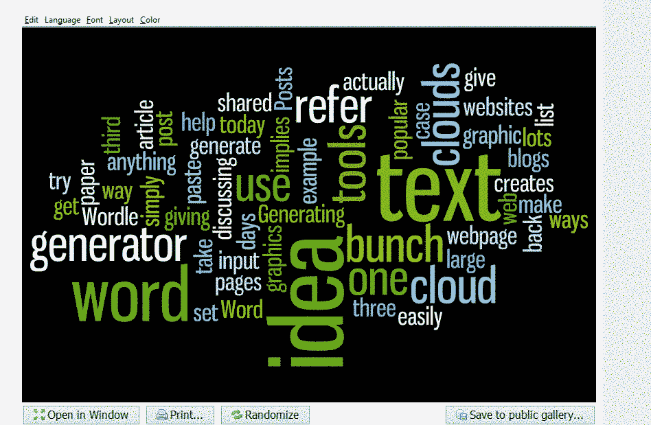 this is an image of wordle word cloud