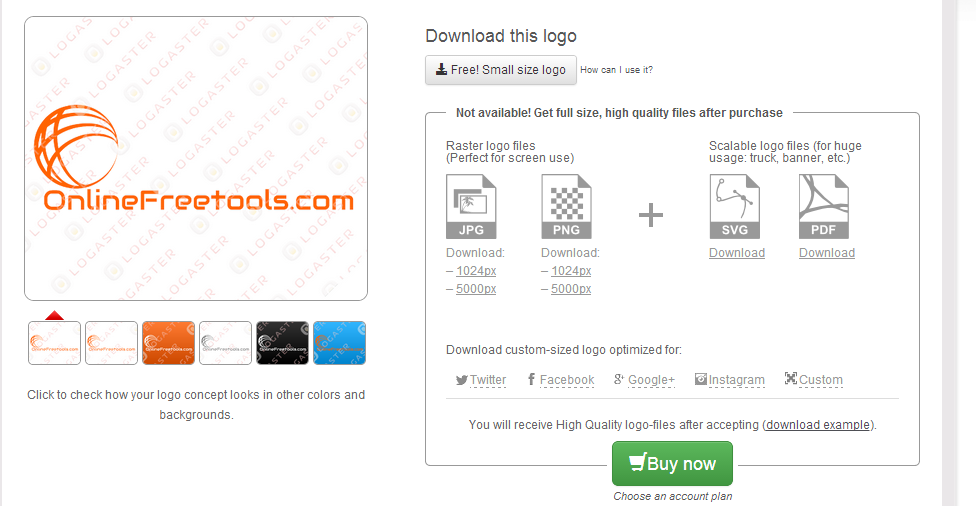 Save your Logo or download it