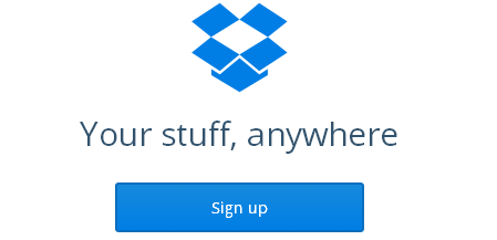 Dropbox files upload dashboard