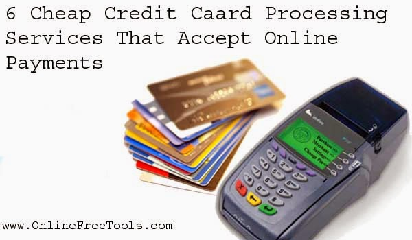 Cheap Credit Card Processing Services