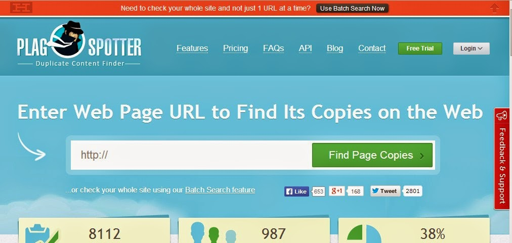 PlagSpotter -  Duplicate Content Checkers That Are Fast and Brilliant