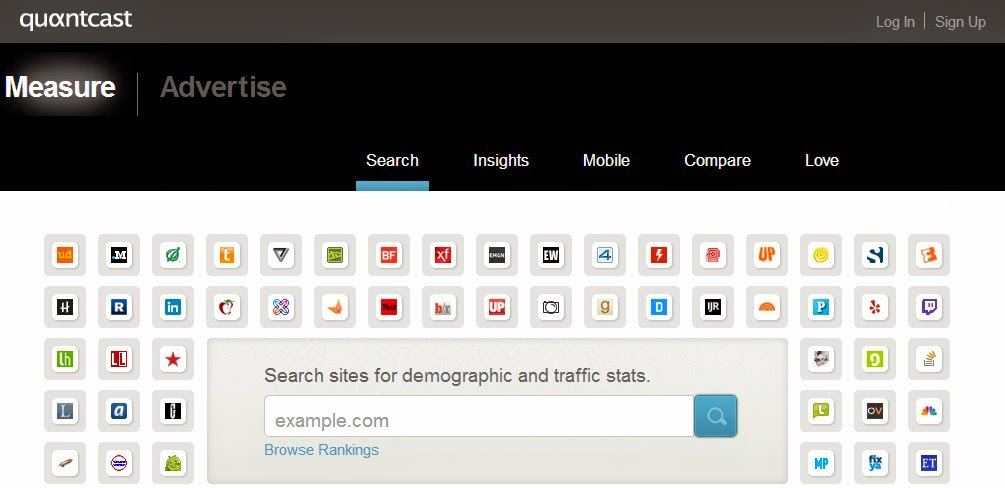 Quantcast -  Traffic Estimators
