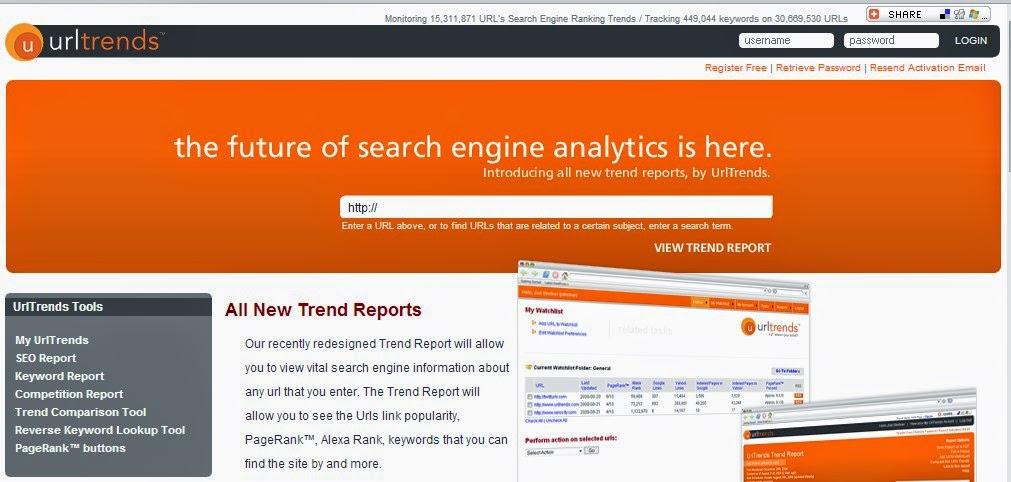 URL Trends-  Traffic Estimators